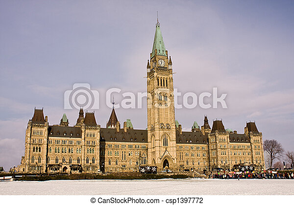 Parliament Hill Rally, Ottawa - csp1397772