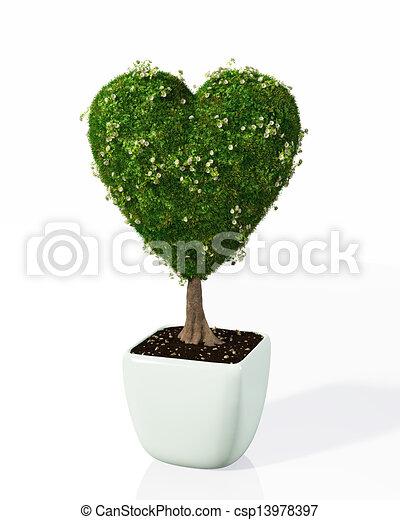 illustration de plante form aimer coeur petit plante forme coeur csp13978397. Black Bedroom Furniture Sets. Home Design Ideas