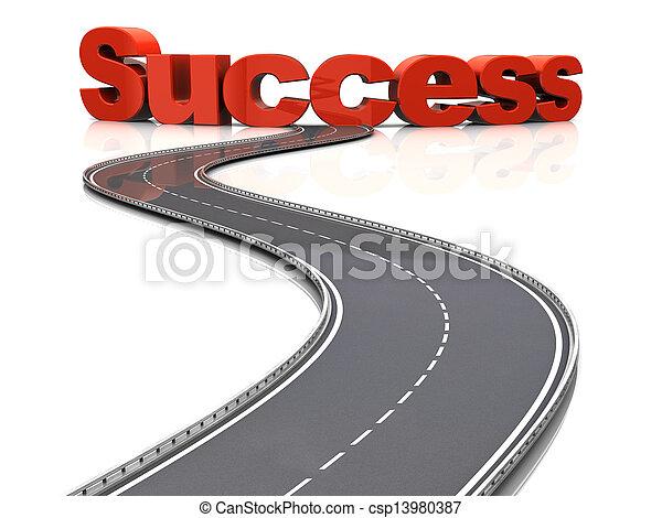 väg, framgång - csp13980387