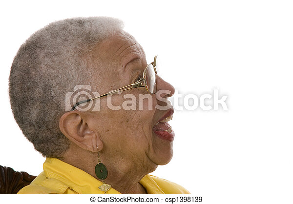 Elderly African American Woman - csp1398139