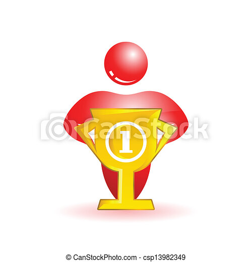First place. Social people icon - csp13982349