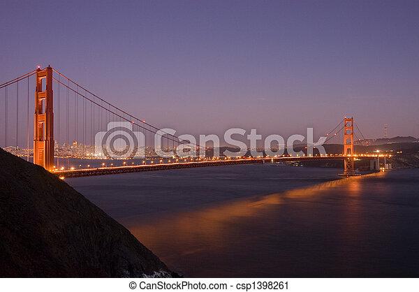 Golden Gate bridge at night - csp1398261
