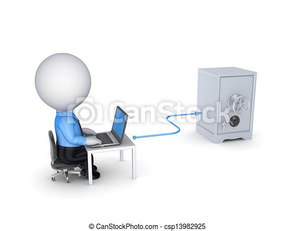 Online banking concept. - csp13982925