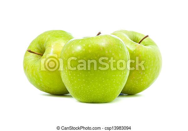 three green apples - csp13983094