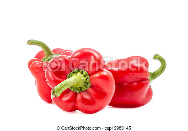 three red peppers - csp13983145