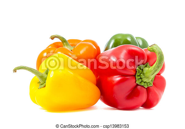 four bell peppers - csp13983153