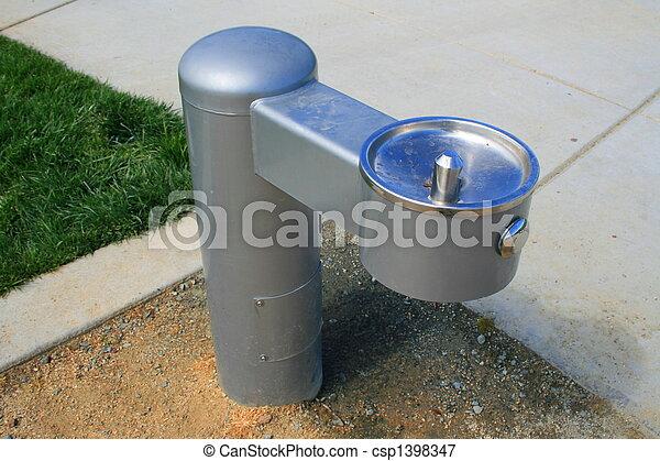 image de boire fontaine trottoir parc csp1398347. Black Bedroom Furniture Sets. Home Design Ideas
