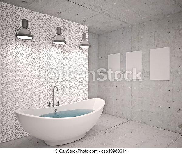 Clipart von modern inneneinrichtung badezimmer haus for Inneneinrichtung badezimmer