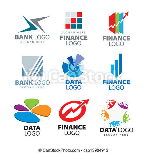 Vector - collection of vector logos for banks and finance companies ...