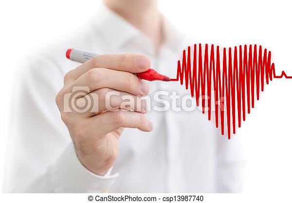 Heart beat chart - csp13987740