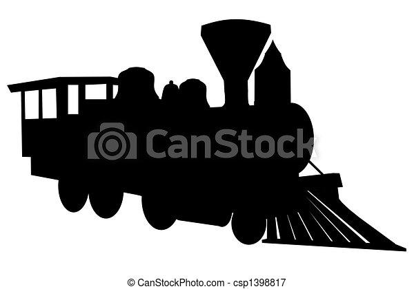 Steam locomotive - csp1398817