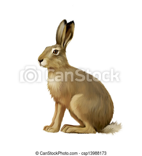 Stock Illustrations Of Sitting Hare Cute Easter Bunny