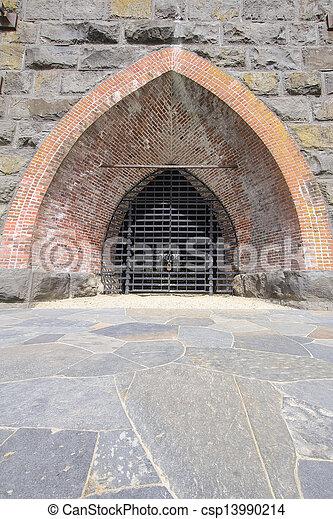 Historic Iron Furnace Gate - csp13990214