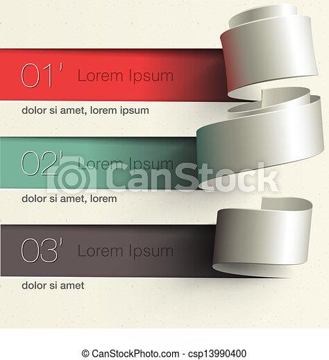 Modern design infographic template - csp13990400