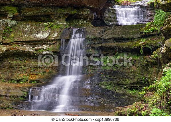 Waterfalls at Old Man's Cave - csp13990708