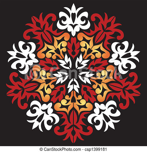 Decorative snowflake - csp1399181