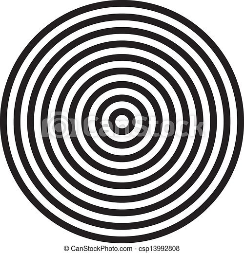 Vector Clipart of Concentric circles background csp13992808 ...