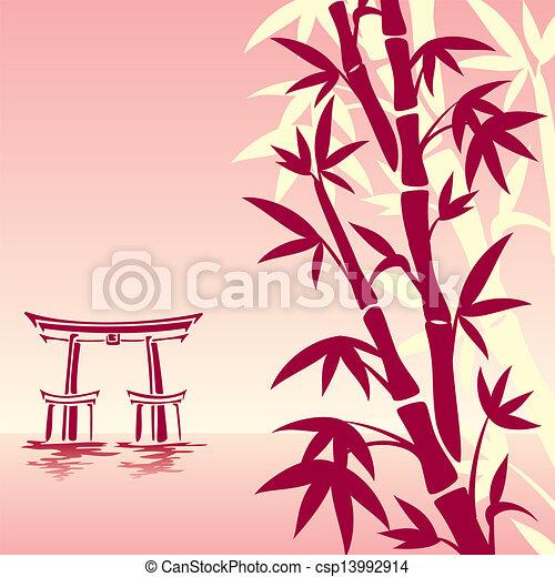 clip art vecteur de asiatique paysage vecteur image traditionnel csp13992914. Black Bedroom Furniture Sets. Home Design Ideas