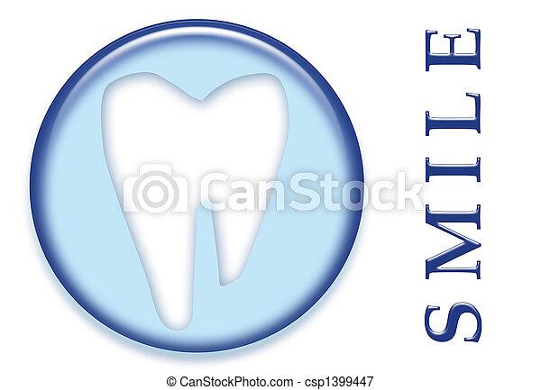 dental, muela, diente, sonrisa - csp1399447