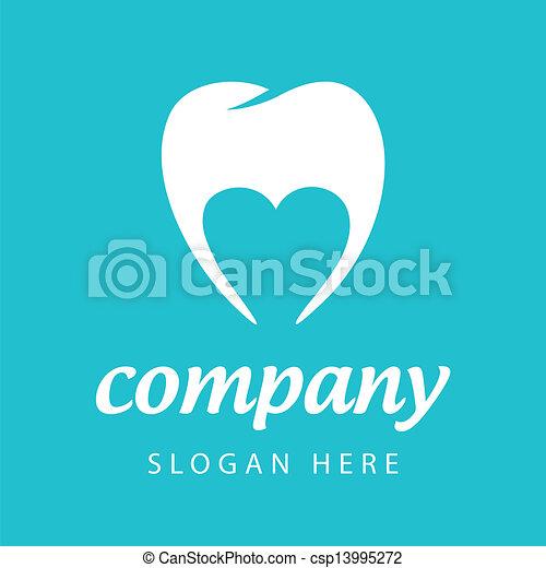 vector logo dental company - csp13995272
