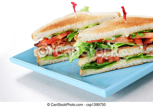 Bacon Lettuce and Tomato Sandwich - csp1399750