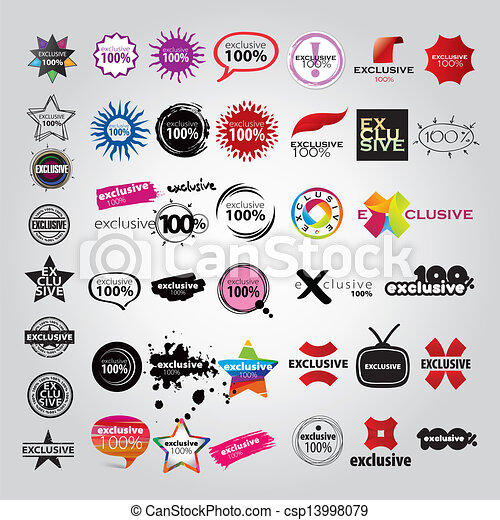 vector the collection of logos signs pointers - csp13998079