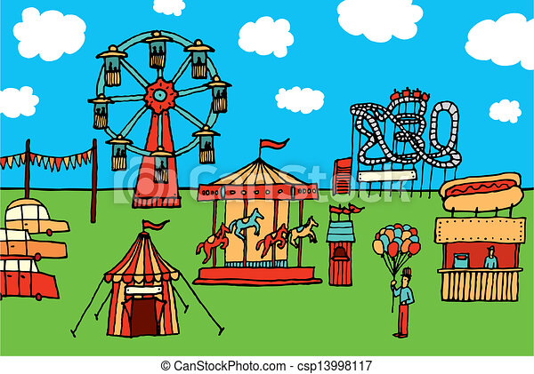 Clip Art Amusement Park Clipart amusement park clip art vector graphics 6312 eps cartoon carnival park