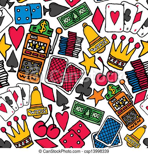 Gambling Seamless pattern / Casino background - csp13998339