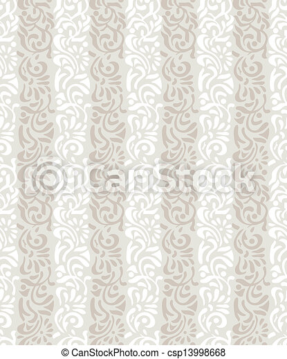 Seamless abstract floral wallpaper - csp13998668