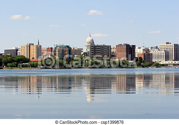 Skyline of Madison Wisconsin - csp1399876