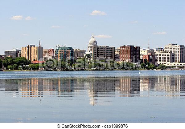 Skyline of Madison Wisconsin - csp1399876