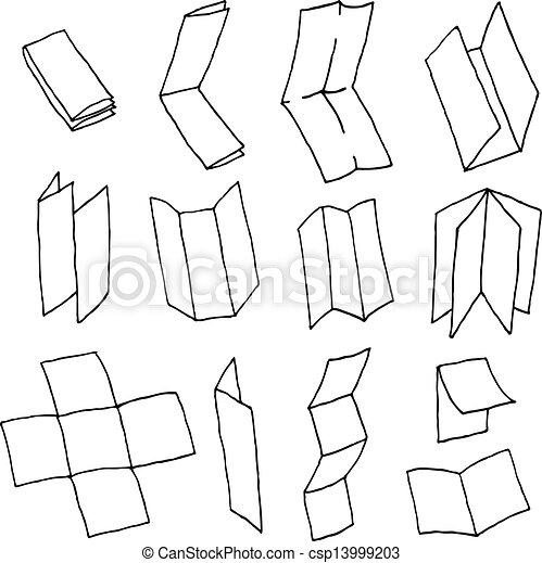 Vector Clipart of Flyer or brochure format paper set csp13999203 ...