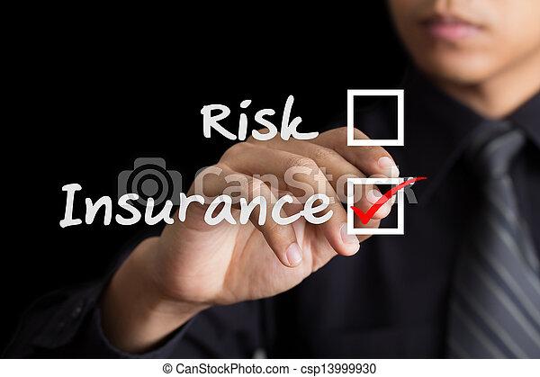 Man drawing Insurance concept - csp13999930