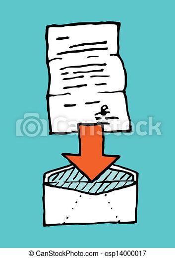 Letter in envelope / Attach - csp14000017