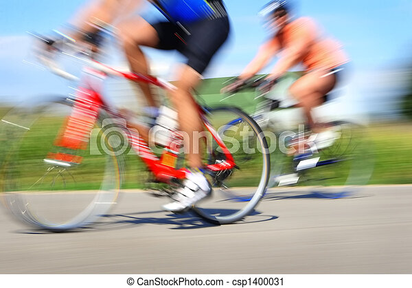 Racing bicycles, motion blur - csp1400031