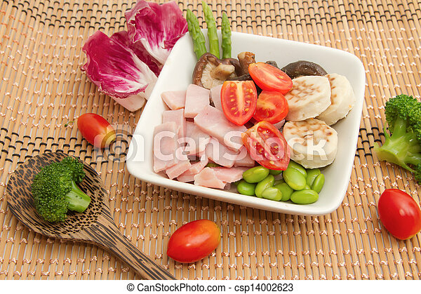 ham salad and mix vegetable - csp14002623