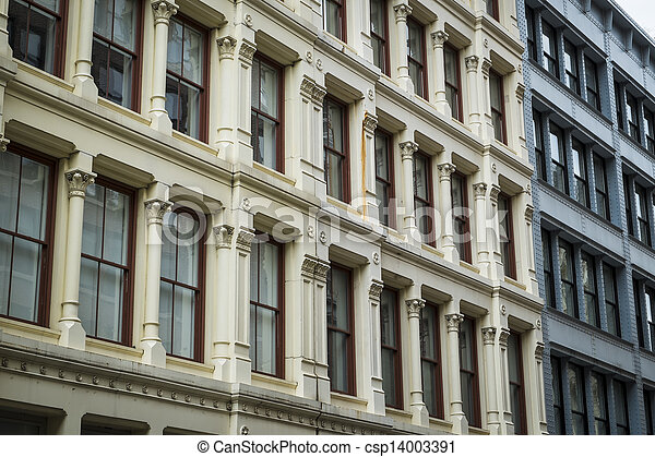Historic buildings in New York City's Soho District - csp14003391