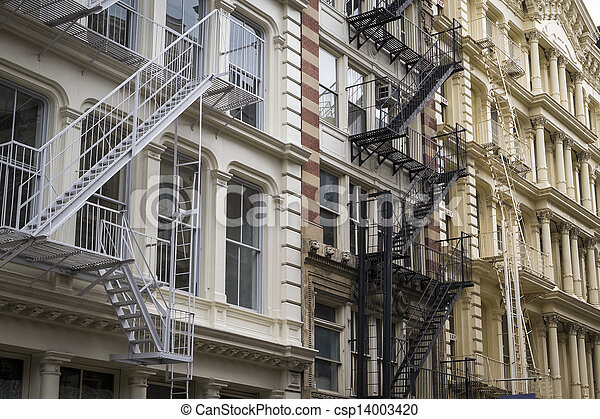 Historic buildings in New York City's Soho District - csp14003420
