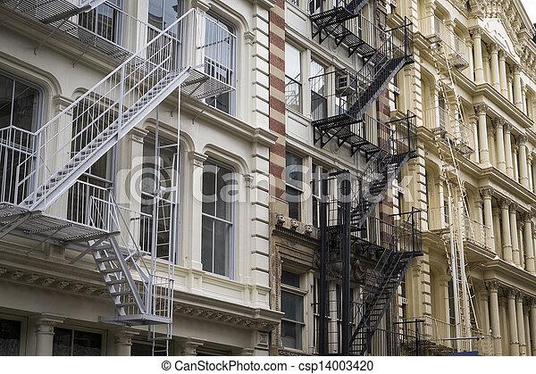 Historic buildings in New York City's Soho District - csp14003420
