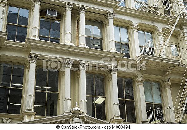 Historic buildings in New York City's Soho District - csp14003494