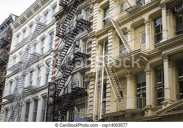 Historic buildings in New York City's Soho District - csp14003577