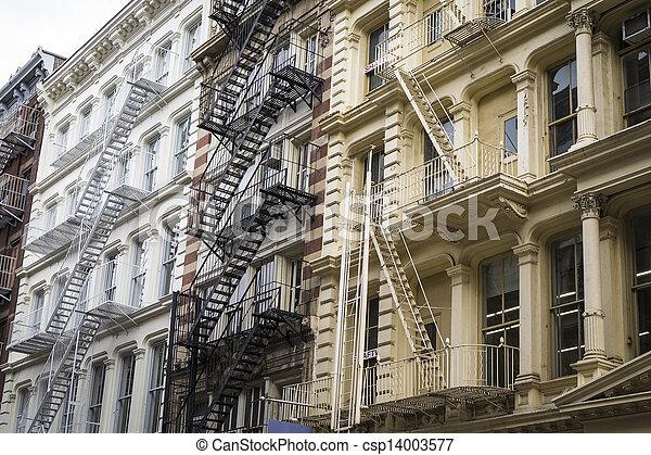 Historic buildings in New York City's Soho District - csp14003577