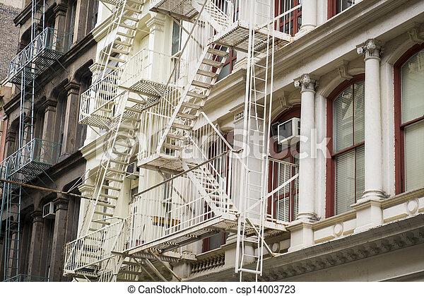 Historic buildings in New York City's Soho District - csp14003723