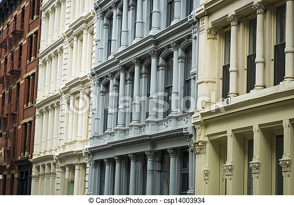 Historic buildings in New York City's Soho District - csp14003934