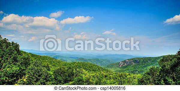 Smokey mountains national park in autumn colors - csp14005816