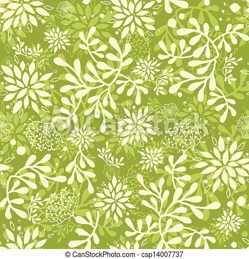 Vector green underwater plants seamless pattern background stock
