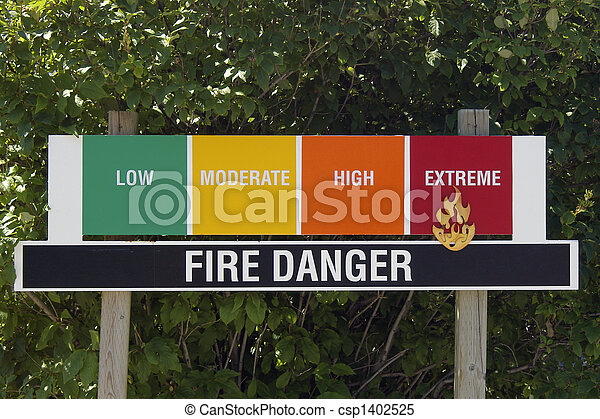 Fire Danger Rating Sign - csp1402525