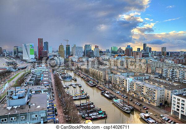Skyline Rotterdam - csp14026711