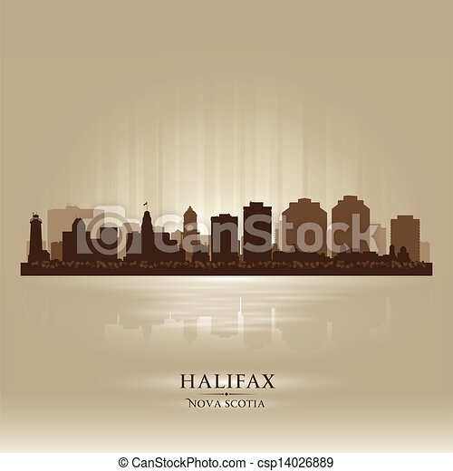 Halifax Canada skyline city silhouette - csp14026889