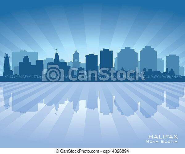 Halifax Canada skyline city silhouette - csp14026894